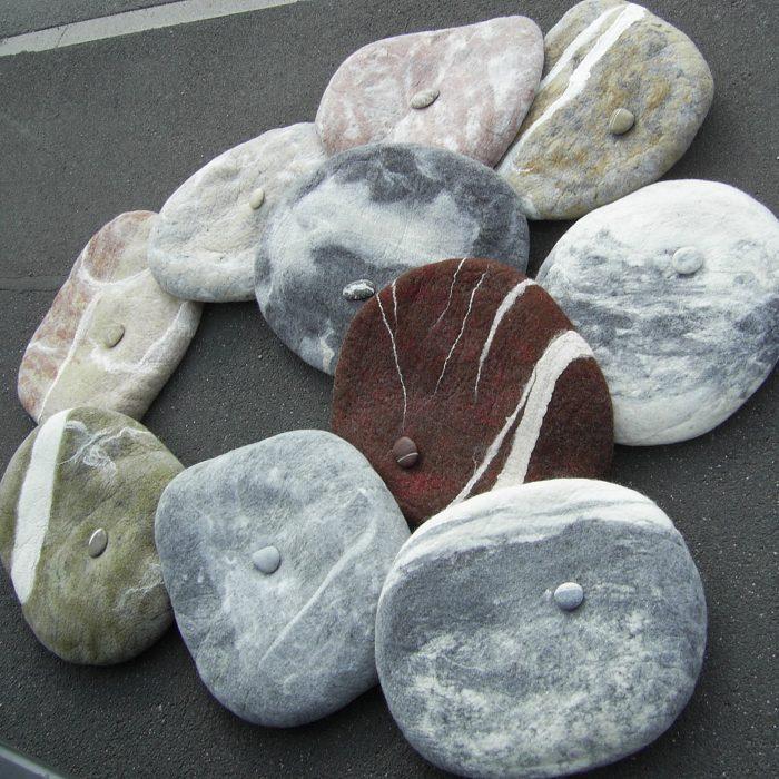 mit Original-Stein klein-groß kalt-warm  hart-weich