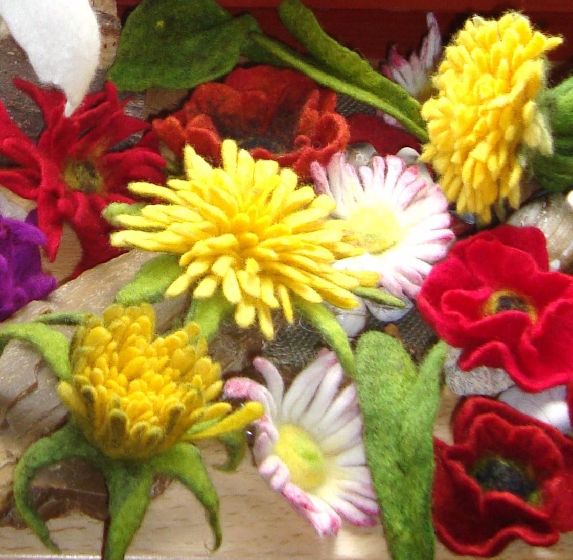 Blüten filzen Flower – Power