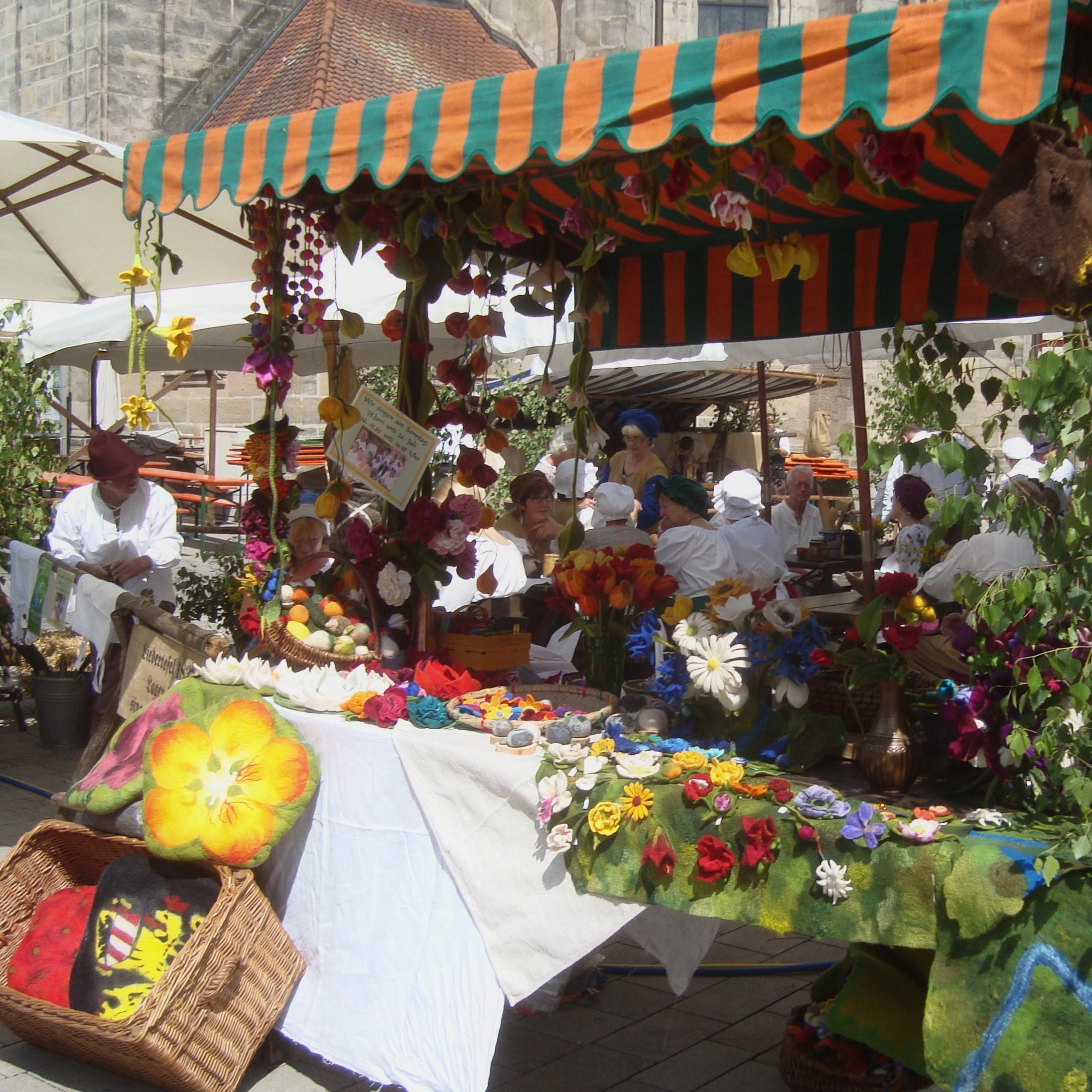 Marktstand am Bauernlager Wallenstein